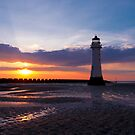 New Brighton Lighthouse at Sunset 2 by Adam North