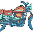 Harley Davidson Scrambler Motrocycle by strayfoto