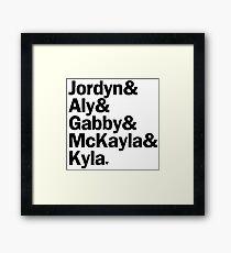 2012 US Olympic Team | Gymnastics (Black) Framed Print