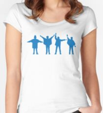 The Beatles Help Women's Fitted Scoop T-Shirt