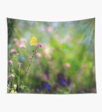 Fresh Summer Meadow with Lemon Butterfly  Wall Tapestry
