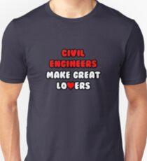 Civil Engineers Make Great Lovers Unisex T-Shirt