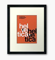 Helvetica Vintage Poster Framed Print