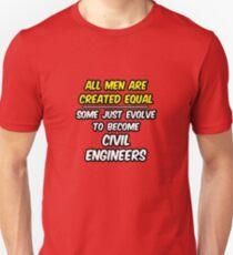 Funny Civil Engineer .. Evolution Unisex T-Shirt