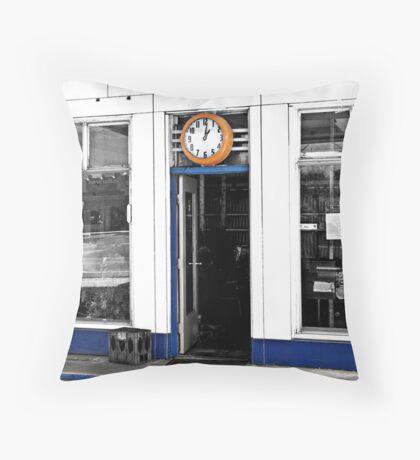 Door Clock Throw Pillow