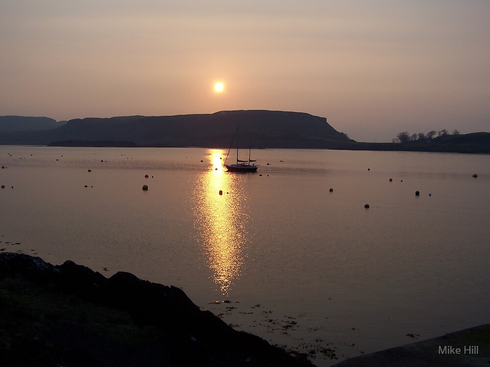 oban sunset by Mike Hill