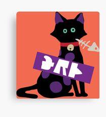 SquidForce Splatfest Cat Tee Canvas Print