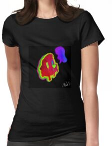 Neon Otter Womens Fitted T-Shirt