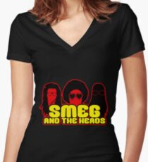 Smeg And The Heads Women's Fitted V-Neck T-Shirt