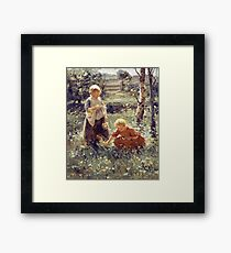 Evert Pieters - Children In A Field Framed Print