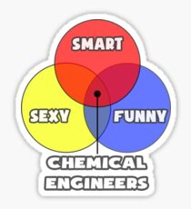 venn diagram chemical engineers sticker