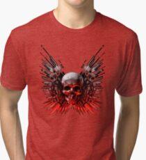 Weapon skull Tri-blend T-Shirt