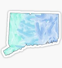Connecticut CT State Watercolor Sticker