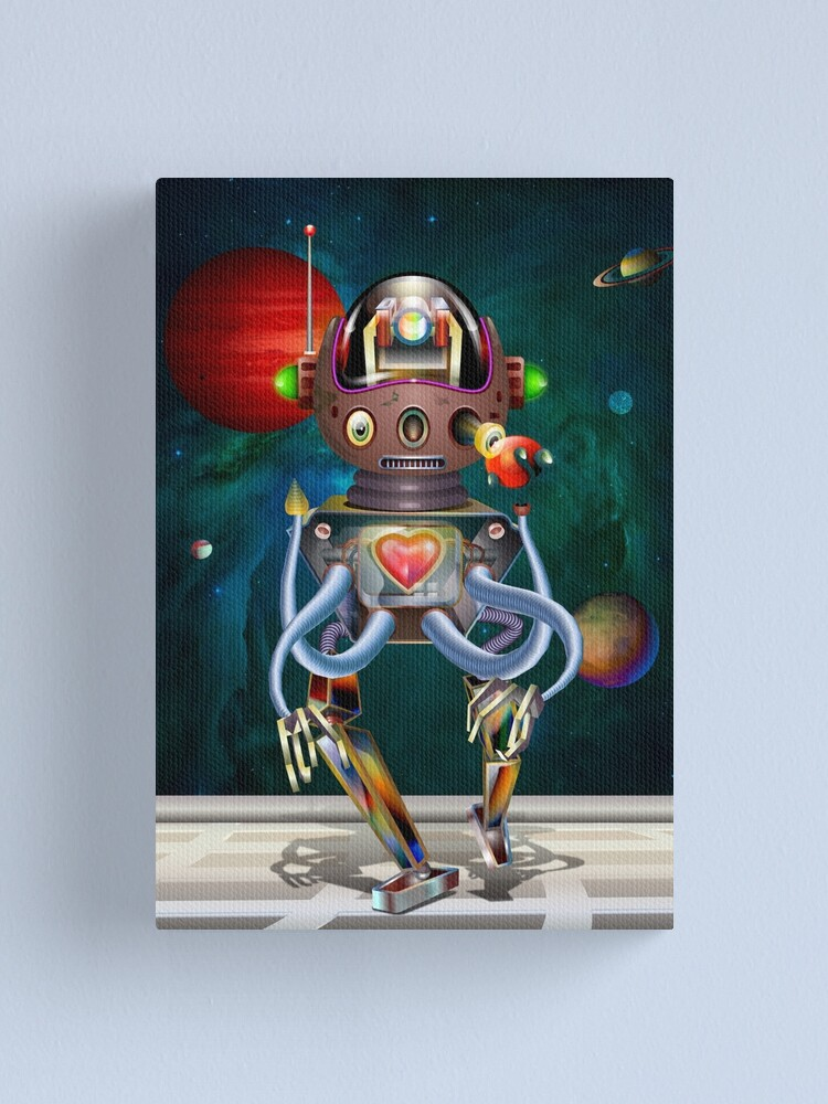 Alternate view of Robot #1 Canvas Print