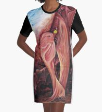Plasty an abstract painting Graphic T-Shirt Dress