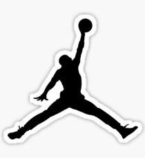 jordan logo t-shirt Sticker