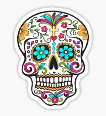 Day of the Dead Sugar Skull Mexican Folk Art Dia De Los Muertos Sticker