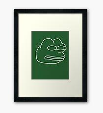 Vector Pepe Framed Print