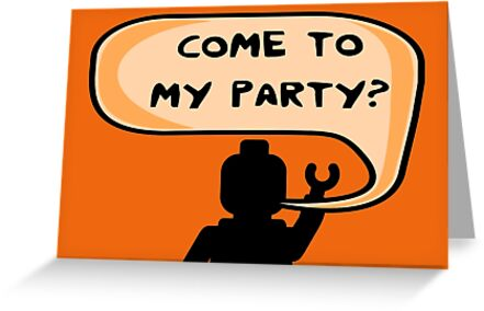 """COME TO MY PARTY?"" Invitation by ChilleeW"