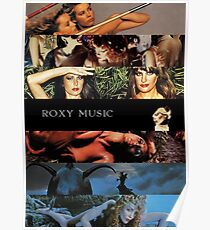 Roxy Music Albums Poster
