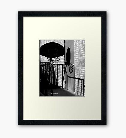 Shadow Goal Framed Print