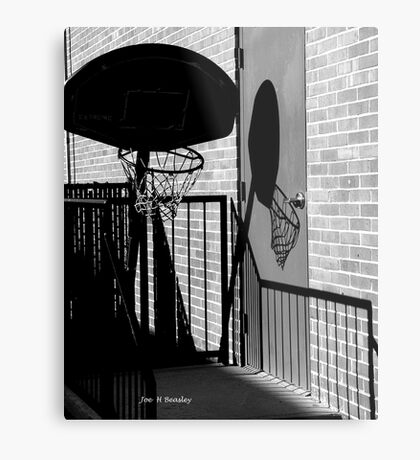 Shadow Goal Metal Print