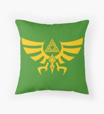 Triskele Triforce - Crest of Hyrule - Legend of Zelda Throw Pillow