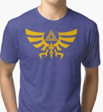 Triskele Triforce - Crest of Hyrule - Legend of Zelda Tri-blend T-Shirt