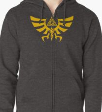 Triskele Triforce - Crest of Hyrule - Legend of Zelda Zipped Hoodie