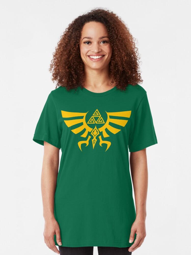 Alternate view of Triskele Triforce - Crest of Hyrule - Legend of Zelda Slim Fit T-Shirt