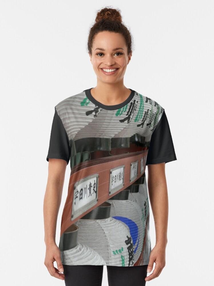 T-shirt graphique ''Lampions Temple': autre vue