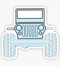 Light Blue Jeep  Sticker