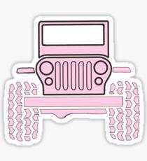 Light Pink Jeep Sticker