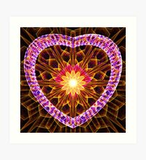 the light in your heart Art Print