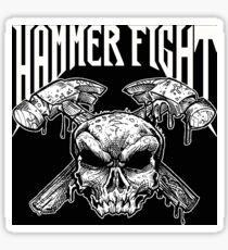Hammer Fight - Original Skull Logo Sticker