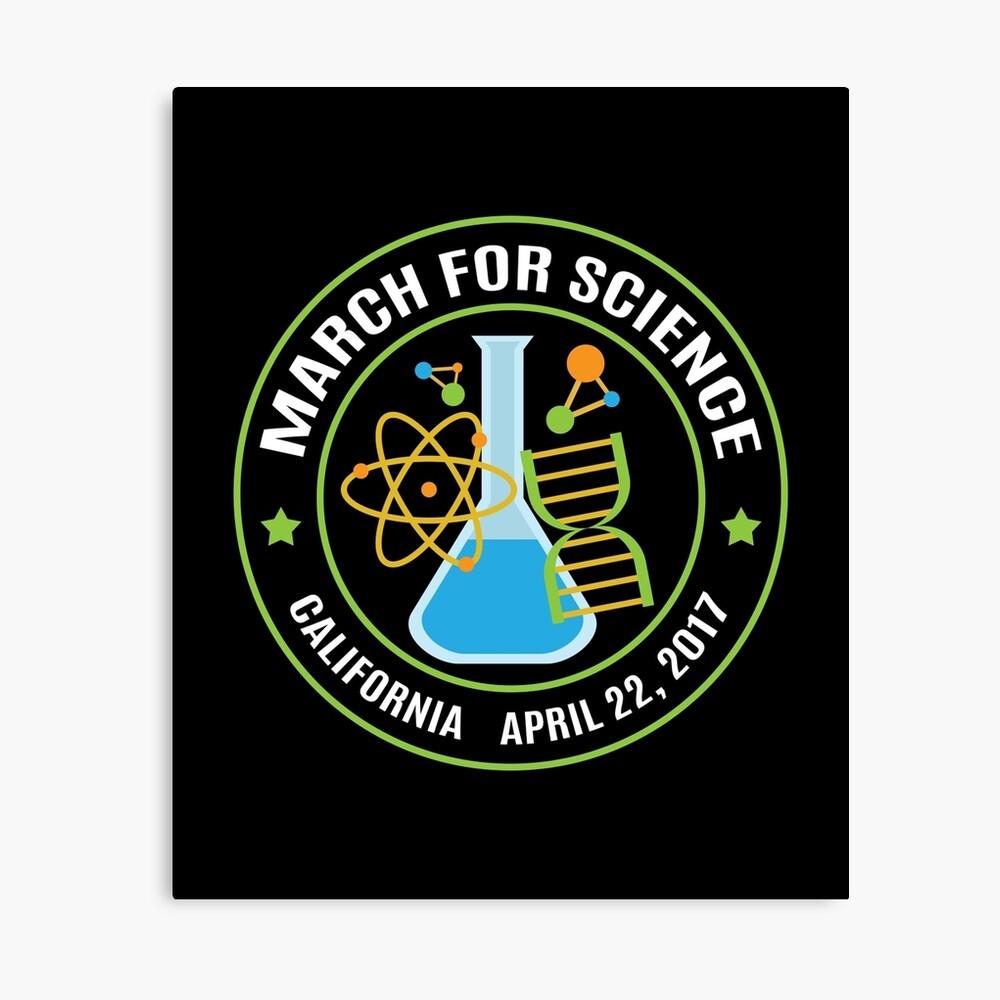März für die Wissenschaft Kalifornien Leinwanddruck