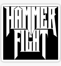 Hammer Fight - Stacked Logo Sticker