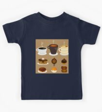 Dessert Time Collection Flat Designs Kids Tee