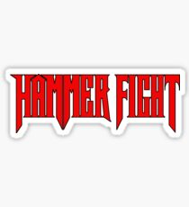 Hammer Fight - Red Logo Sticker