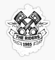 Riders Motorcycle Motor Pilot Sticker