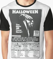 Halloween Newspaper Ad Graphic T-Shirt