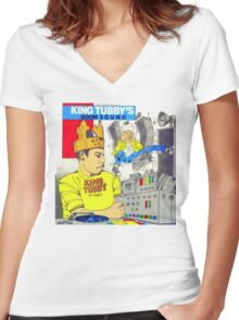 King Tubby's BOOM SOUND ... Hi-Power Women's Fitted V-Neck T-Shirt