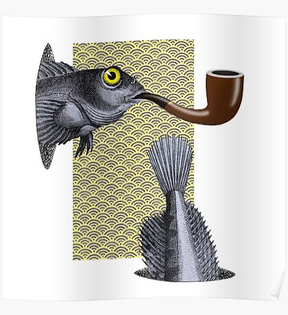 Magritte Fish Poster