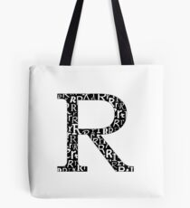 R Filled | Typography Tote Bag