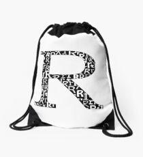R Filled | Typography Drawstring Bag