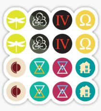 Coheed and Cambria Album Stickers Sticker
