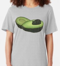 Avocado Cat Slim Fit T-Shirt