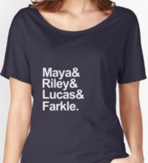 Girl Meets World characters-- White Women's Relaxed Fit T-Shirt
