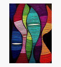 Abstract Color Worms Photographic Print