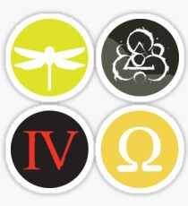 Coheed and Cambria Amory Wars album stickers Sticker